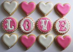 Love & Heart Cookies  more - http://www.incrediblesnaps.com/valentines-day-special-recipes-desserts-and-treats