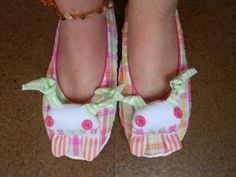 Zlippers  Pink and fluo multicolored slippers size EU by Zezling, €16.00