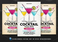 Cocktail Party Flyer by DesignWorkz on @creativemarket