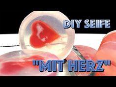 Seife selber gießen / Anleitung / Glycerinseife / Seife mit Herz / Idee / Geschenke basteln, Muttertag, Hochzeit, Valentinstag