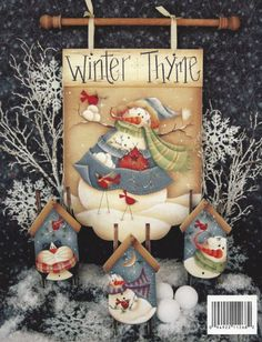 Winter Spice by Renee' Mullins-Renee' Mullins book, Winter Spice and Everything Nice is filled with fun and whimsical winter designs! Beaded Christmas Ornaments, Christmas Art, Gingerbread Decorations, Christmas Decorations, Snowmen Pictures, Pintura Country, Country Paintings, New Years Decorations, Country Crafts