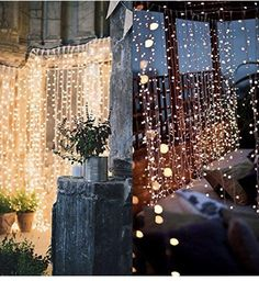 Twinkle Star 300 LED Window Curtain String Light for Wedding Party Home Garden Bedroom Outdoor Indoor Wall Decorations (Warm White) 8 Modes settings: combination Twinkle Star, Twinkle Lights, Twinkle Twinkle, Light Decorations, Wedding Decorations, Wedding Ideas, Wedding Centerpieces, Garden Bedroom, Indoor String Lights