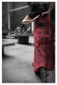 Flamenco belly dance steam punk cosplay all ruffle red skirt by ScheherazadeBanoo, $112.00