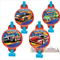 Hot Wheels 'Speed City' Blowouts / Favors (8ct) || Hard To Find Party Supplies