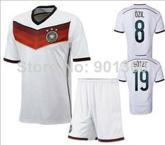 c13cbd6ff 2014 Brasil World Cup Germany Home Team Player Version Soccer Jerseys  Customized Official Original Name training suit  11.35 - 18.99