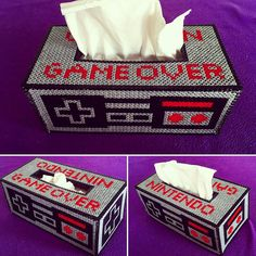 Nintendo tissue box cover hama beads by lauri_ahoi