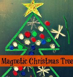 Christmas activities for kids: Magnetic Christmas tree