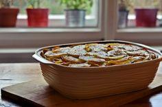 "Zapečené brambory s masem a smetanou - ""Placaté brambory"" Chili, Soup, Chile, Soups, Chilis"