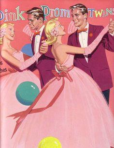 Miss Missy Paper Dolls: Pink Prom Twins