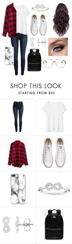 """My school outfit😊"" by pinkj3w3l ❤ liked on Polyvore featuring Gap, Madewell, Converse, Casetify, Thomas Sabo, Ted Baker and Fendi"
