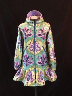 Alaskan Emeralds Rainpuk Amy Butler Fabric Raincoat by rainpuk, $200.00