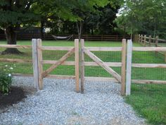 split rail fence with wire backing hemlock rails as well as wire