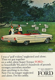 1964 Ford Galaxie 500XL Convertible Ad