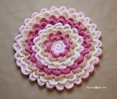 Repeat Crafter Me: Crochet Blooming Flower Pillow FREE pattern