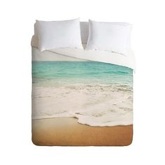 Deny Designs Bree Madden Ombre Beach Lightweight Duvet Cover - Tan ($162) ❤ liked on Polyvore featuring home, bed & bath, bedding, duvet covers, tan, king bedding, dip dye bedding, deny designs bedding, taupe bedding en queen bedding