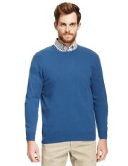 Blue Harbour Wool Rich Crew Neck Jumper with Cashmere