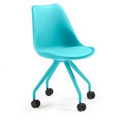 Silla oficina con ruedas Lars Epoxy azul C975U26