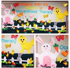 Hanging with my PEEPS in Occupational Therapy!  Spring & Easter Bulletin Board