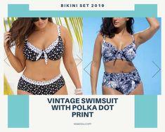 Polka Dot Print, Polka Dots, Vintage Bathing Suits, Fluorescent Colors, Nylon Bag, Swimsuits, Swimwear, Two Pieces, Bikini Set