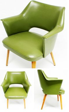 Avocado Green Arm Chair Bent Plywood Chair | Thonet via #midcenturymodern freak