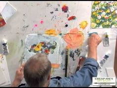 video #tutorial > painting abstract flowers | A Simple, Loose and Abstract Approach to Negative Shape Painting with Robert Burridge #art #techniques