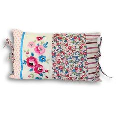 Paoletti Appleby 50x30cm Cushion, Kingfisher & Pink