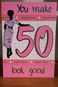 Cricut suburbia 50th birthday card