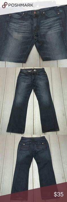 INC International Concepts jeans Amsterdam men 32 INC International Concepts jeans Amsterdam men 32 x 32 Excellent preowned condition dark slight fade. Label States 34 by 30, measures 32 by 32.  Item would be shipped the next business day once payment has been received. INC International Concepts Jeans Bootcut