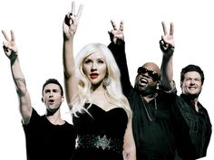 """The Voice"" Judges - Adam Levine, Christina Aguilera, Cee Lo Green & Blake Shelton"