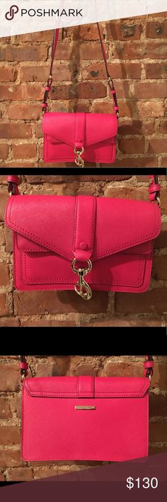 Rebecca Minkoff Pink Crossbody Beautiful never been used, vibrant and versatile crossbody bag. A perfect statement bag for a night out or a fun, bright everyday bag for spring! Rebecca Minkoff Bags Crossbody Bags