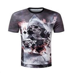 T-Shirts ZOOTOP BEAR New design skull poker print Men short sleeve T shirt t -shirt casual breathable t-shirt plus-size tshirt homme     AliExpress ... 89edc2f20f8a