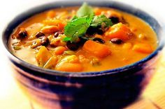 Gluten-Free African Bean and Sweet Potato Soup