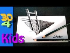How to draw a 3D hole with ladder step by step / # 14 - YouTube