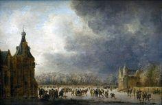 Jan van Goyen : At the rink (National Museum, Kraków) 1596-1656 ヤン・ファン・ホーイェン