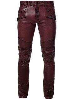 BALMAIN - skinny lambskin trouser 6