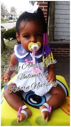 AA reborn toddler baby African American by BabyandKidsUnlimited
