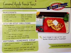 Caramel Apple French Toast!  **Featuring the Butter Braid Pastry Caramel Rolls!**   Run a fundraiser to get your hands on this and other delicious flavors of Butter Braid Pastries!!  www.labraidfundraising.com