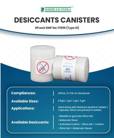 Molecular Sieve, Packaging Solutions, Silica Gel, Canisters, Moisturizer, Bottle, India, Moisturiser, Goa India