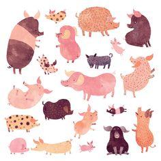 Pig Pig Pig by Chuck Groenink Art Print