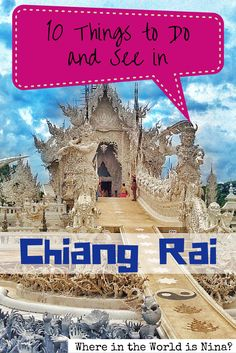 Check it out! Chiang Rai has more than the White Temple... How about a beach and house of bones and skins?!