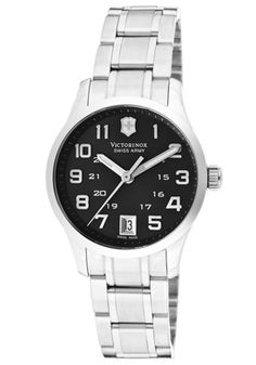 $319.00 FREE SHIPPING  Swiss Army Women's Alliance Black Dial Stainless Steel 241325  A great design. This is a perfect timepiece for everyday wear. Provides a dressy look with a sporty feel. This product is only available to ship within the U.S.