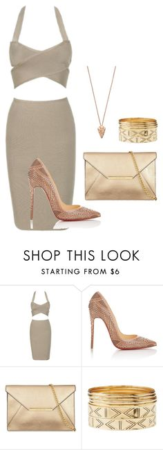 """Classy Style"" by lailayulian ❤ liked on Polyvore featuring Christian Louboutin, Charlotte Russe and Pamela Love"