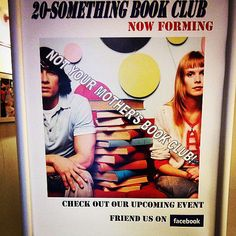 Even though the poster is a little misleading, we'd love to let the millenials in the Syosset School District area know that this is not your mother's book club! We discuss a variety of fiction and non-fiction books that are relevant to our generation. Find out more info on the facebook page or meetup page