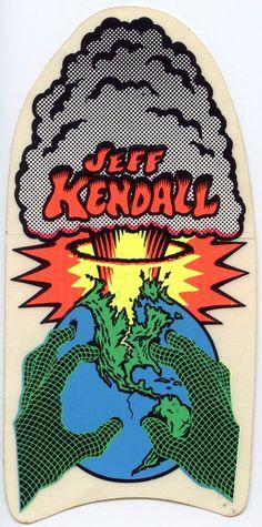 Santa Cruz Jeff Kendall Sticker