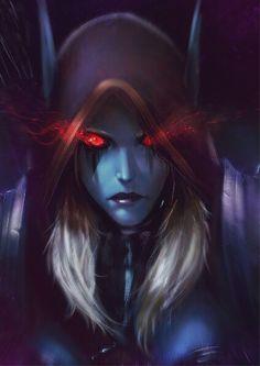 Dark lady Sylvanas WoW