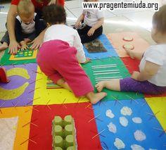Pra Gente Miúda: Como fazer um tapete sensorial