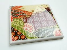 coasters: waterproof, heat-resistant -- using tiles, scrapbook paper and pourable, self-leveling resin