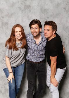 David Tennant with John Barrowman and Catherine Tate at AwesomeCon 2017 in Washington, D.C. (17.06.17)