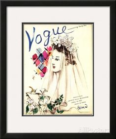 Vogue Cover - April 1937 Framed Giclee Print by Christian Berard at AllPosters.com