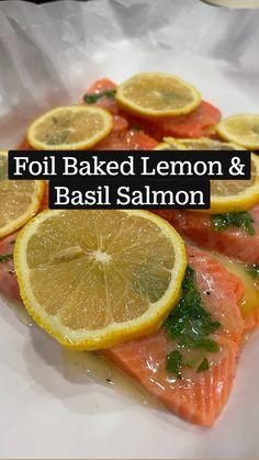 Healthy Salmon Recipes, Healthy Dinner Recipes, Cooking Recipes, Easy Fish Recipes, Cooking Fish, Cooking Salmon, Healthy Food, Salmon Dinner, Meal Prep Salmon